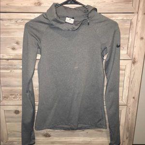 Grey Nike pro long sleeve